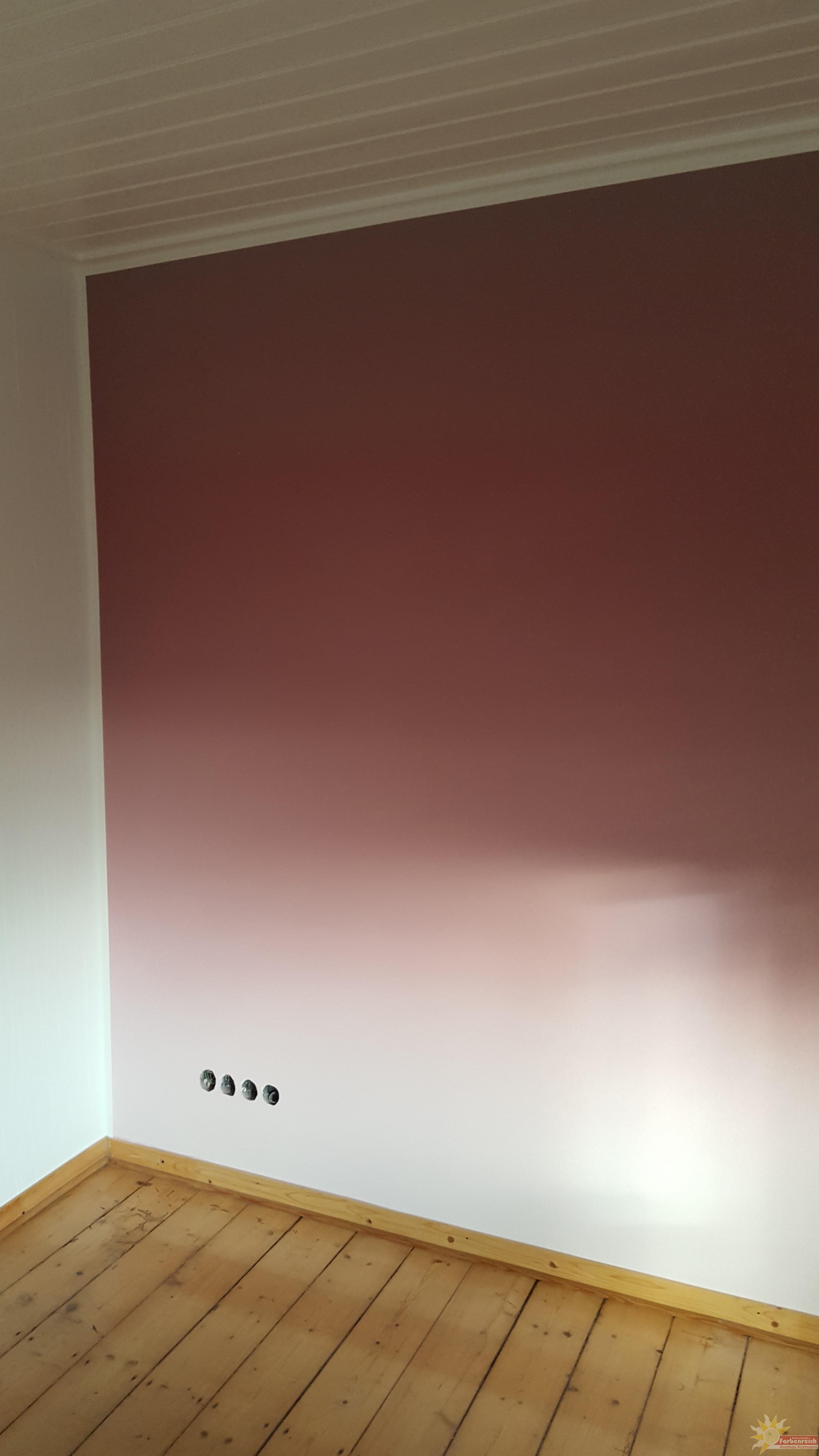 Farbverlauf gespritzt